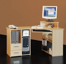 Computertisch 4505 137cm Eck Schreibtisch Computertisch In Buche Amazon