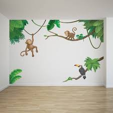 28 wall stickers for children kids wall stickers 6 safari wall stickers for children jungle monkey children s wall sticker set by oakdene