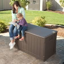 Suncast 50 Gallon Patio Bench by Amazon Com Lifetime 60089 Deck Storage Box 116 Gallon Garden
