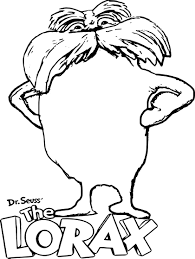 lorax coloring page dr seuss the lorax coloring pages for kids