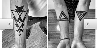 tattoos com unique triangle tattoo ideas