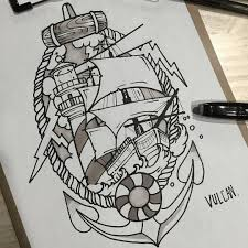 sailboat u0026 lighthouse 우르르쾅쾅 tattoo tattooart tattooing