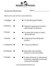 8th grade vocabulary worksheets worksheets