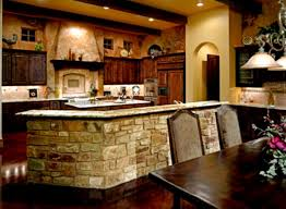 french country kitchen backsplash brown wooden gloss flooring