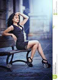 Short Skirts High Heels Handsome Attractive Wearing Short Skirt And High Heels