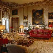 chatsworth house silk on walls drawing room