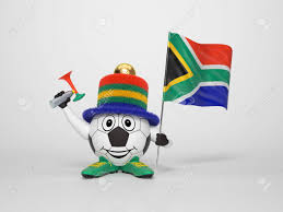Th Flag A Cute And Funny Soccer Character Holding The National Flag Of