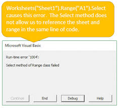 how to avoid the select method in vba u0026 why excel campus