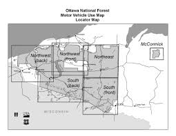 Michigan Upper Peninsula Map Ottawa National Forest Maps U0026 Publications