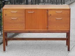 jens risom restored credenza 4 drawer storage piece with shelf