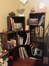 furniture diy dollhouse bookcase with shelves and green roof for