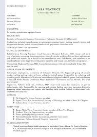 Graduate Nurse Resume Samples by Nursing Student Resume Clinical Experience