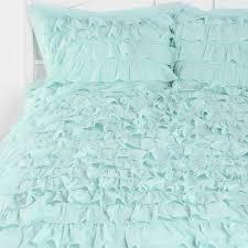 aqua ruffle comforter light aqua waterfall ruffle bedding set bedroom ideas