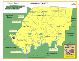 Middle Tennessee Map by Sumner County Tennessee Century Farms