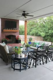 Patio Half Wall Blogger Stylin U0027 Home Tours Summer Edition Patio Reveal Dimples