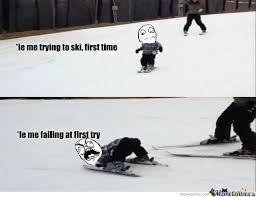 Ski Meme - skiing by adokas meme center
