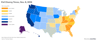 Live Time Zone Map by Poll Closing Times Map Us Message Board Political Discussion
