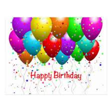 birthday balloons happy birthday balloons postcards zazzle