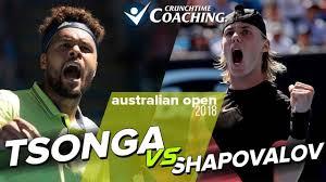 Wilfred Meme - 2018 australian open jo wilfred tsonga vs denis shapovalov post