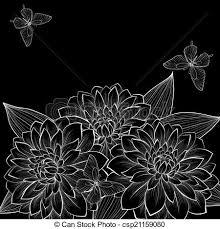 imagenes blancas en fondo negro hermoso butterflies marco fondo negro monocromo dalia