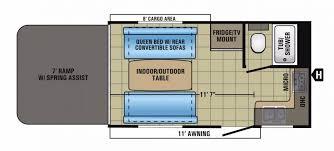 attitude toy hauler floor plans kitchen 5th wheel cers with toy hauler floor plans pull out