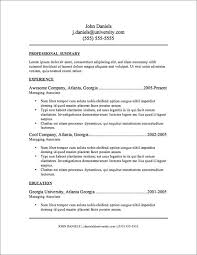 Free Resume Templates For Word Download Free Resume Template Jospar
