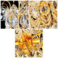 Amber Chandelier Stunning Hand Cut Rock Crystal Droplets Warm Amber Crystal And