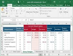 Employee Schedule Excel Template Tips Templates For Creating A Work Schedule In Excel
