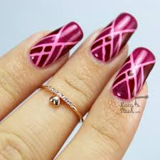 art deco tape nail art feat models own diamond luxe collection