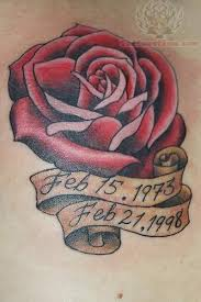 memorial rose tattoo for dad in 2017 real photo pictures images
