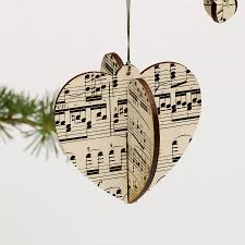 Music Christmas Tree Ornament by Heart Christmas Tree Decorations Christmas Lights Decoration