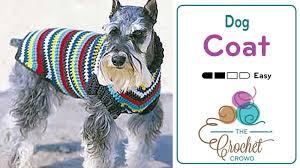 crochet pattern for dog coat crochet dog coat tutorial the crochet crowd