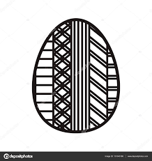 silhouette easter egg design with figure geometric u2014 stock vector