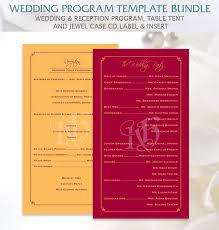 program template for wedding 20 wedding program templates