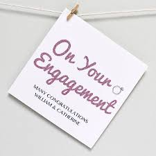 congratulations on engagement card personalised engagement congratulations card by martha brook