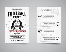 american football party back and front flyer template design usa