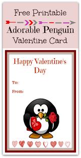 free printable penguin s day card free printable