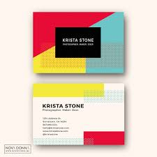 business card template designs pop geometric nova donna
