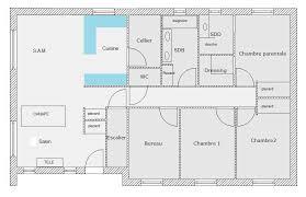 plan 4 chambres plain pied plan maison plain pied 4 chambres sous sol