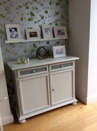 painted sideboard in rustoleum chalk paint winter grey with
