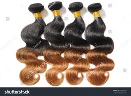 Hair Weave Extensions by Beautiful Body Wave Black Light Auburn Stock Photo 532472542
