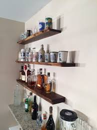 Bar Wall Shelves by Luxury Wall Mounted Bar Shelves 41 For Octagon Wall Shelves With
