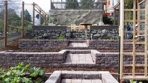 paver patio edging paver patio tiered vegetable garden basalt walls concrete lawn