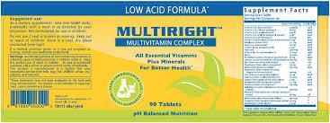 multiright low acid multivitamin complex interstitial cystitis
