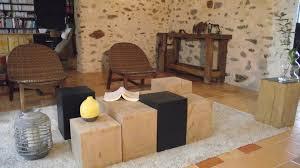 table basse bout de canapé table basse artemis faite de 8 bouts de canapé bois massif bout de