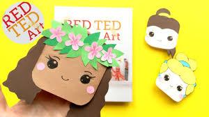 moana bookmark diy disney princesses corner bookmarks diys youtube