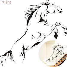 horse wall murals reviews online shopping horse wall murals oujing home living room bedroom home ate new black running horse wall sticker removable vinyl decal art mural home