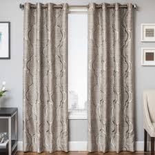 softline ton grommet top curtain panel inches 55 x 108 brown polyester geometric