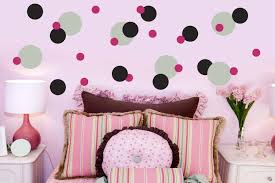 wall decals and sticker ideas for children bedrooms vizmini fancy teenage girl bedroom with polka dot wall stickers and light pink wall paint color and