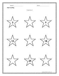 skip counting count by 1 worksheet